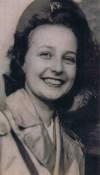 Photo of Emogene Mertz Burns in uniform